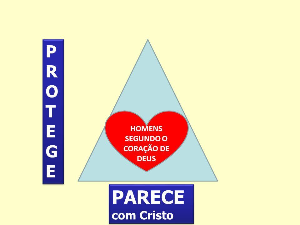 PARECE com Cristo PARECE com Cristo PROTEGEPROTEGE PROTEGEPROTEGE HOMENS SEGUNDO O CORAÇÃO DE DEUS