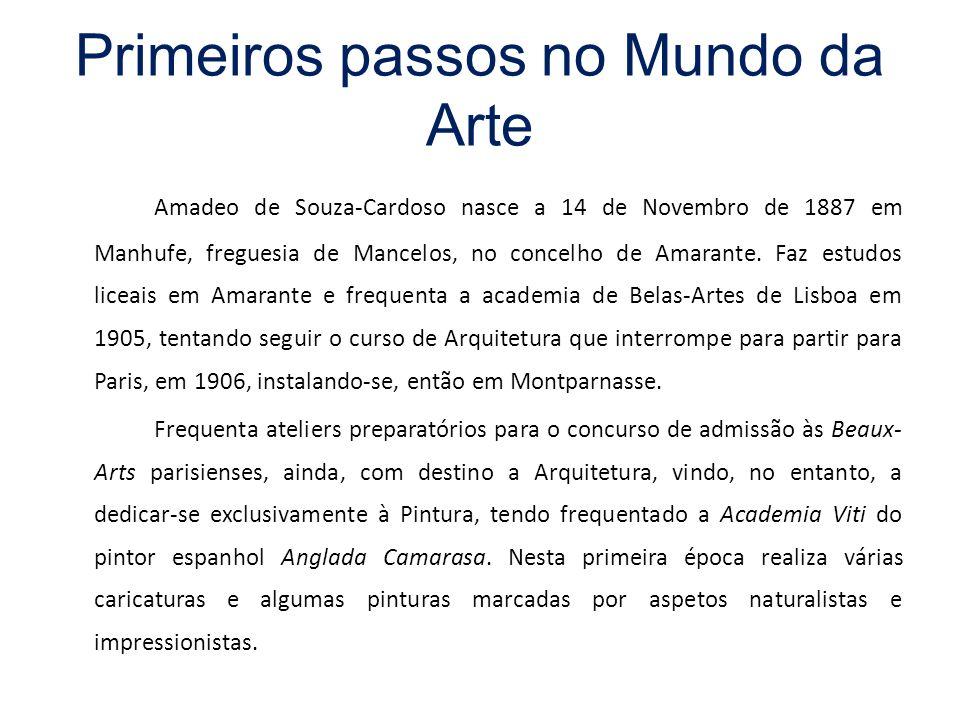 Primeiros passos no Mundo da Arte Amadeo de Souza-Cardoso nasce a 14 de Novembro de 1887 em Manhufe, freguesia de Mancelos, no concelho de Amarante. F