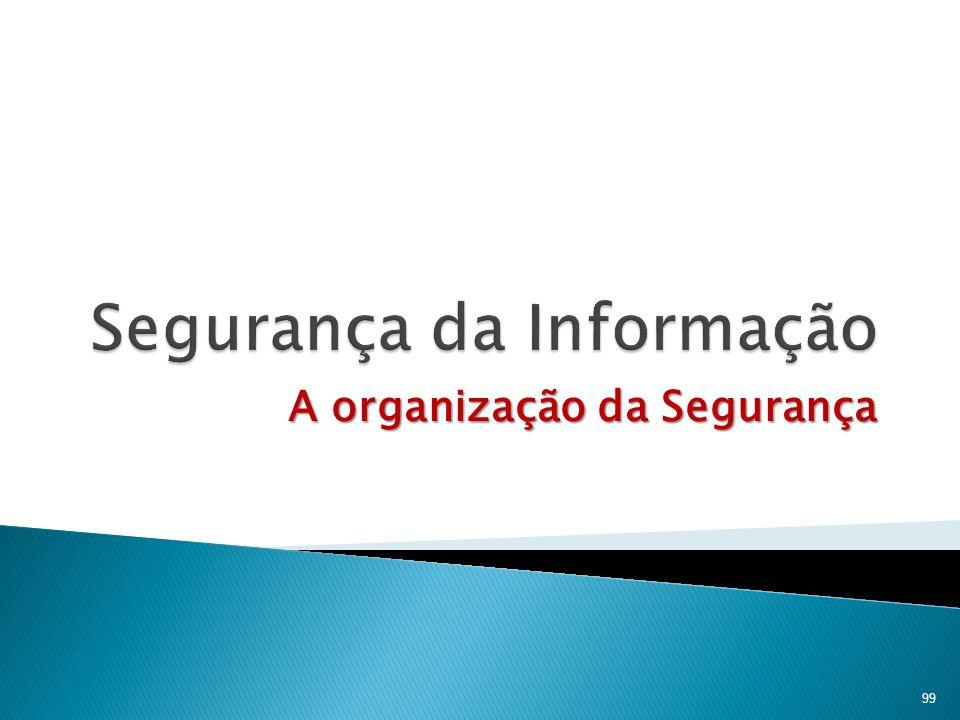A organização da Segurança 99