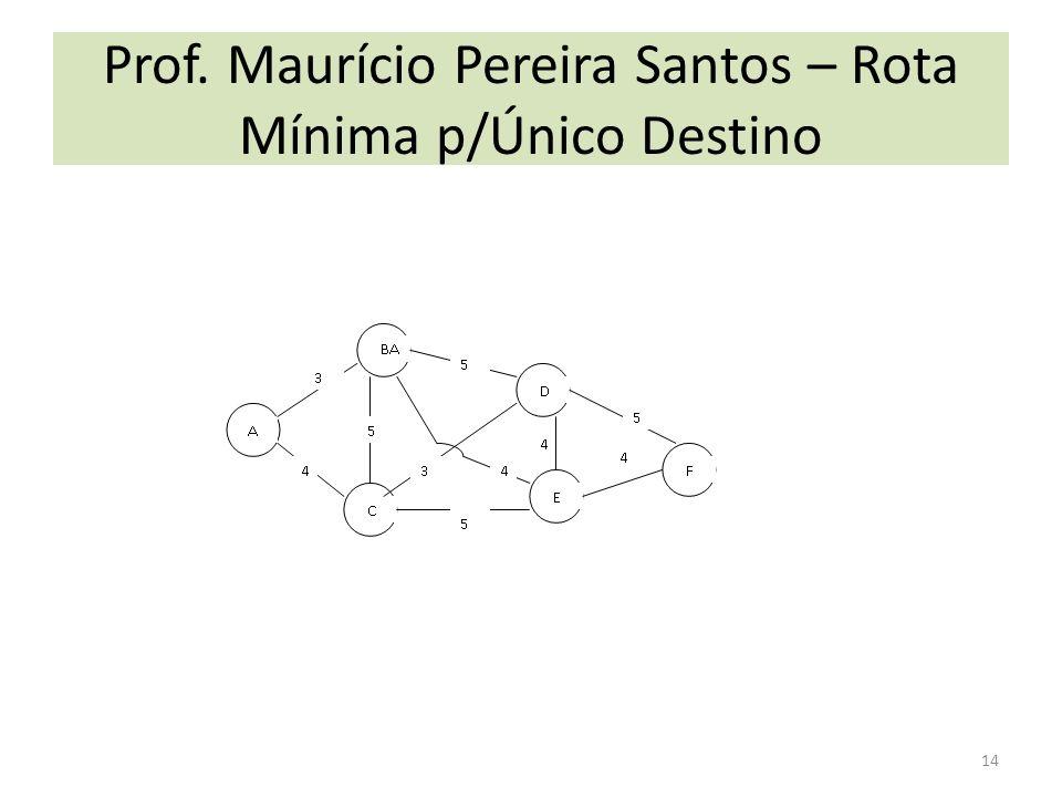 Prof. Maurício Pereira Santos – Rota Mínima p/Único Destino 14