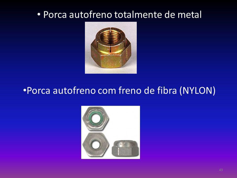 Porca autofreno totalmente de metal Porca autofreno com freno de fibra (NYLON) 49