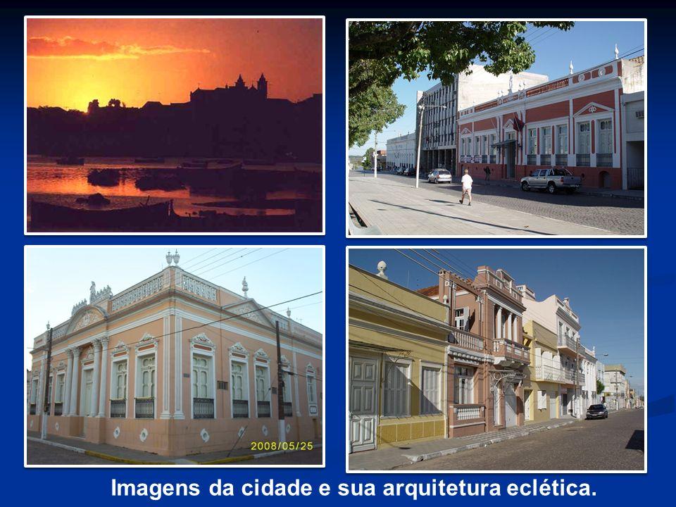 Imagens da cidade e sua arquitetura eclética.