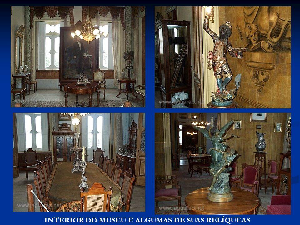 INTERIOR DO MUSEU E ALGUMAS DE SUAS RELÍQUEAS