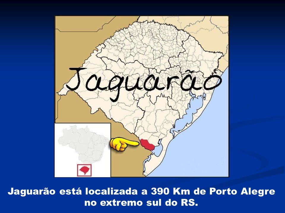 Jaguarão está localizada a 390 Km de Porto Alegre no extremo sul do RS.