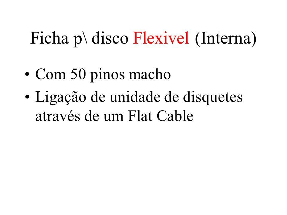 Ficha p\ disco Flexivel (Interna) Com 50 pinos macho Ligação de unidade de disquetes através de um Flat Cable