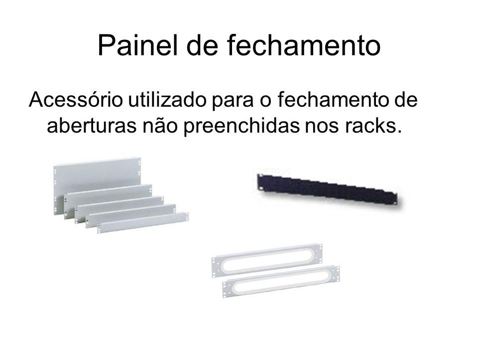 Painel de fechamento Acessório utilizado para o fechamento de aberturas não preenchidas nos racks.