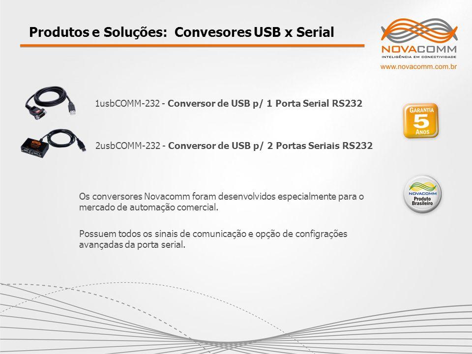 Produtos e Soluções: Convesores USB x Serial 1usbCOMM-232 - Conversor de USB p/ 1 Porta Serial RS232 2usbCOMM-232 - Conversor de USB p/ 2 Portas Seria