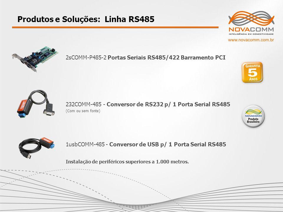 Produtos e Soluções: Linha RS485 232COMM-485 - Conversor de RS232 p/ 1 Porta Serial RS485 (Com ou sem fonte) 1usbCOMM-485 - Conversor de USB p/ 1 Port