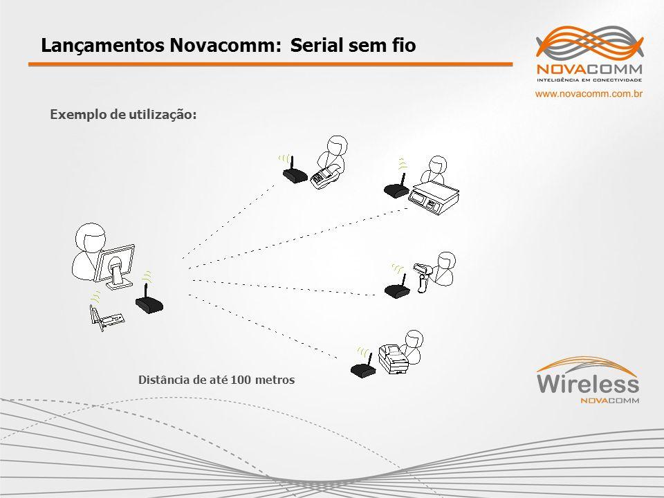 Lançamentos Novacomm: Serial sem fio Exemplo de utilização: Distância de até 100 metros