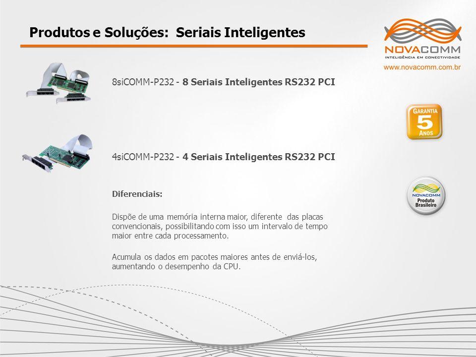8siCOMM-P232 - 8 Seriais Inteligentes RS232 PCI Produtos e Soluções: Seriais Inteligentes 4siCOMM-P232 - 4 Seriais Inteligentes RS232 PCI Diferenciais