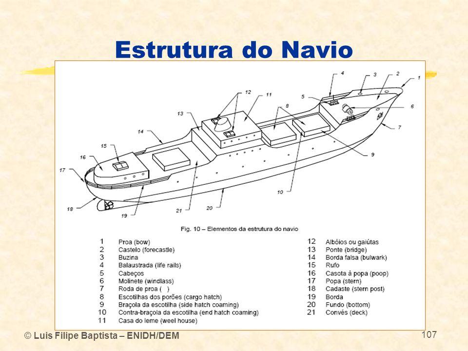 © Luis Filipe Baptista – ENIDH/DEM 107 Estrutura do Navio