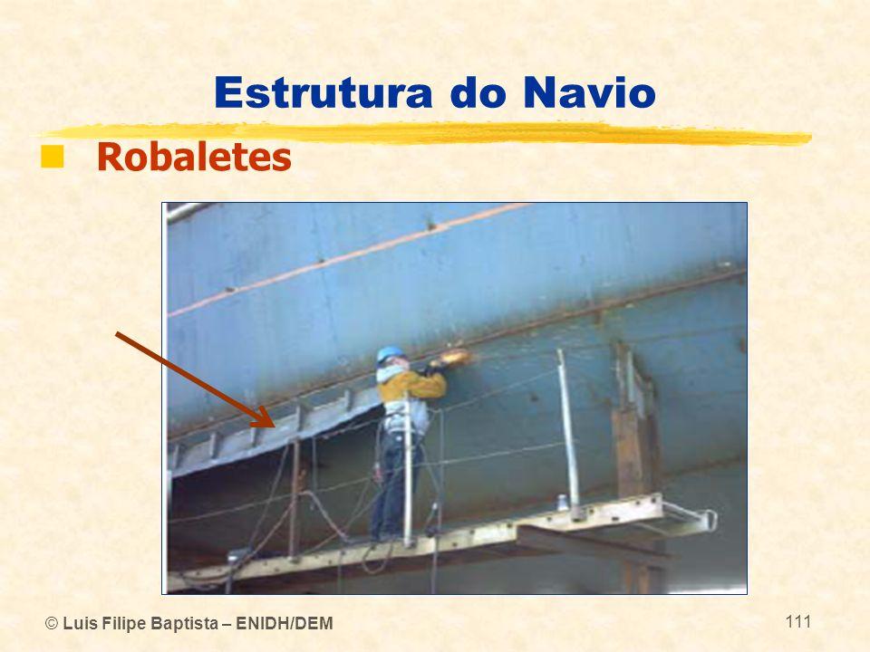 © Luis Filipe Baptista – ENIDH/DEM 111 Estrutura do Navio Robaletes