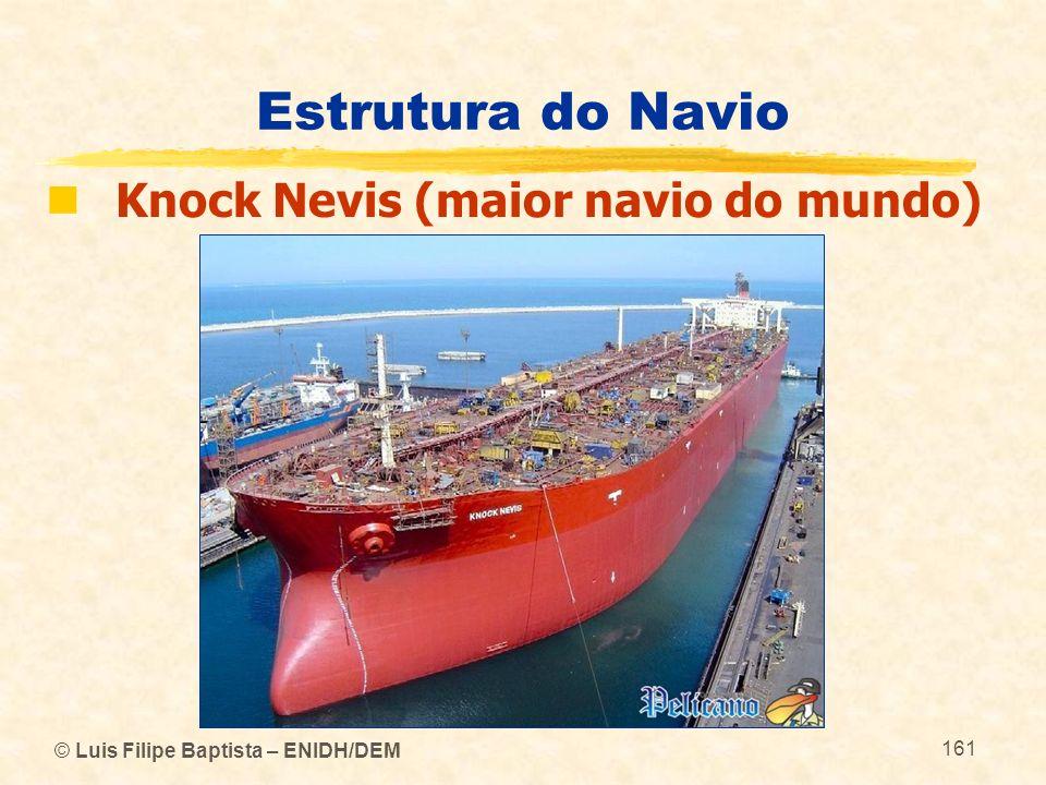 © Luis Filipe Baptista – ENIDH/DEM 161 Estrutura do Navio Knock Nevis (maior navio do mundo)