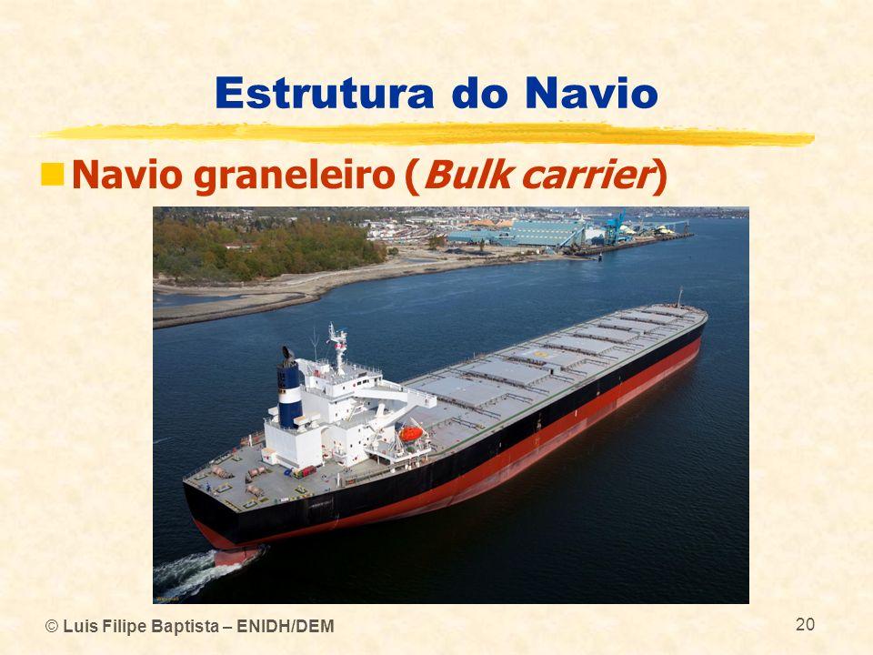 © Luis Filipe Baptista – ENIDH/DEM 20 Estrutura do Navio Navio graneleiro (Bulk carrier)