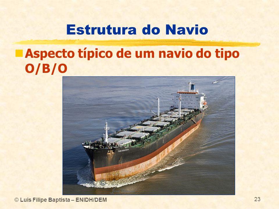 Estrutura do Navio Aspecto típico de um navio do tipo O/B/O © Luis Filipe Baptista – ENIDH/DEM 23