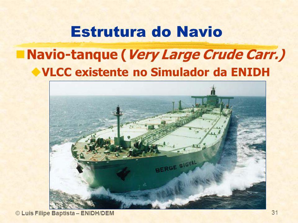 Estrutura do Navio Navio-tanque (Very Large Crude Carr.) VLCC existente no Simulador da ENIDH © Luis Filipe Baptista – ENIDH/DEM 31