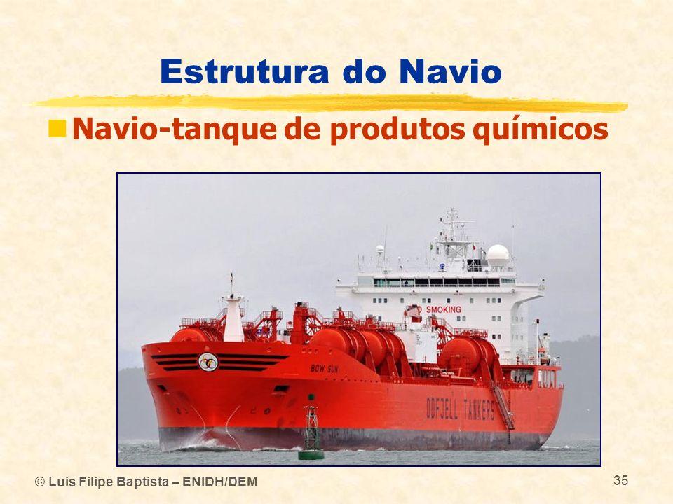 Estrutura do Navio © Luis Filipe Baptista – ENIDH/DEM 35 Navio-tanque de produtos químicos