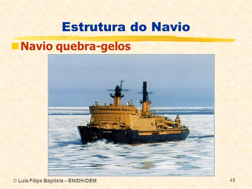 © Luis Filipe Baptista – ENIDH/DEM 48 Estrutura do Navio Navio quebra-gelos