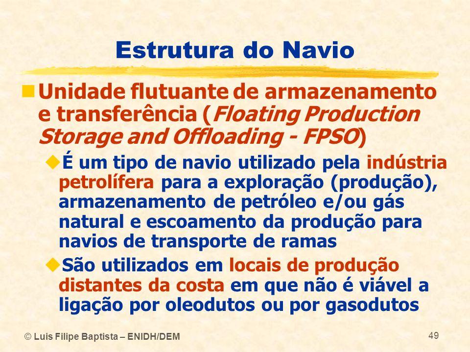 © Luis Filipe Baptista – ENIDH/DEM 49 Estrutura do Navio Unidade flutuante de armazenamento e transferência (Floating Production Storage and Offloadin