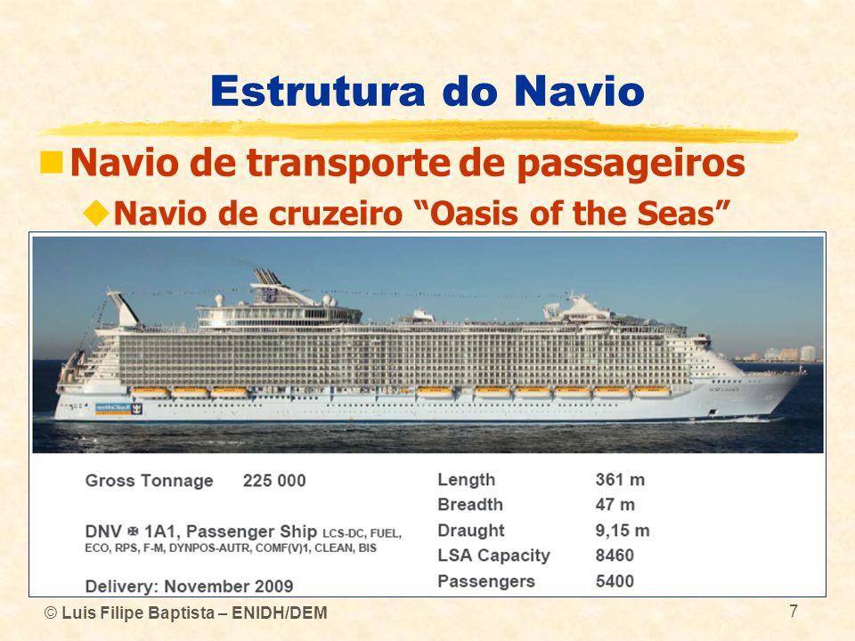 © Luis Filipe Baptista – ENIDH/DEM 7 Estrutura do Navio Navio de transporte de passageiros Navio de cruzeiro Oasis of the Seas