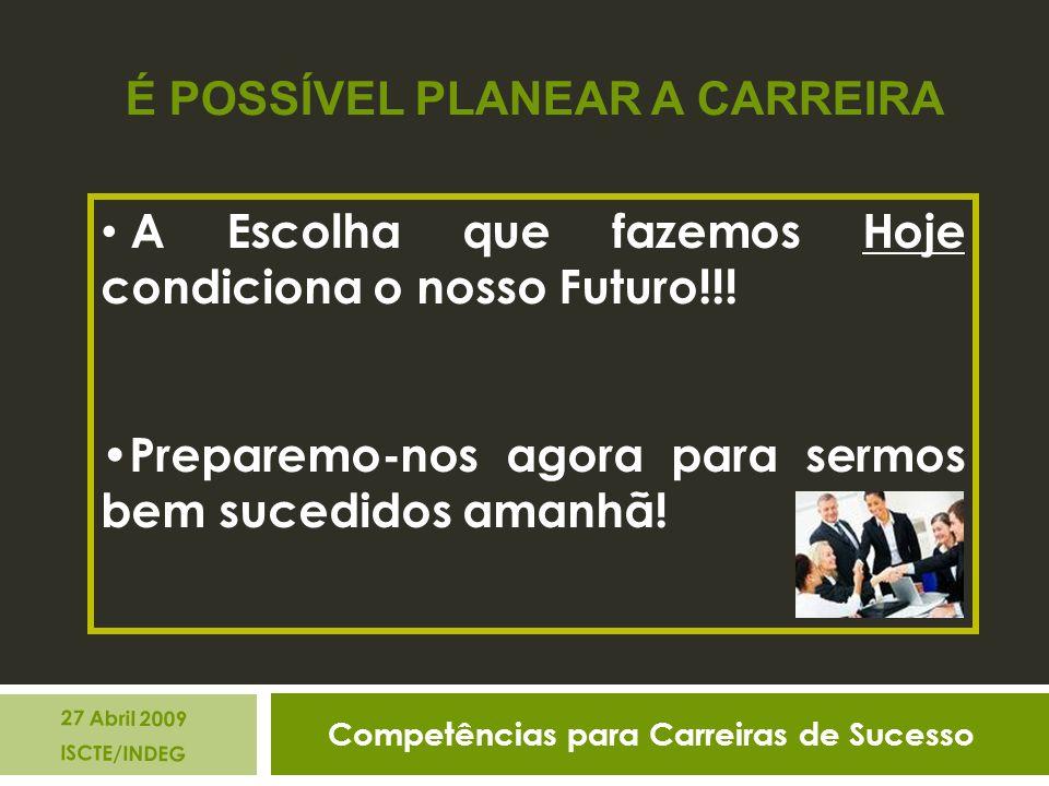 A Escolha que fazemos Hoje condiciona o nosso Futuro!!.