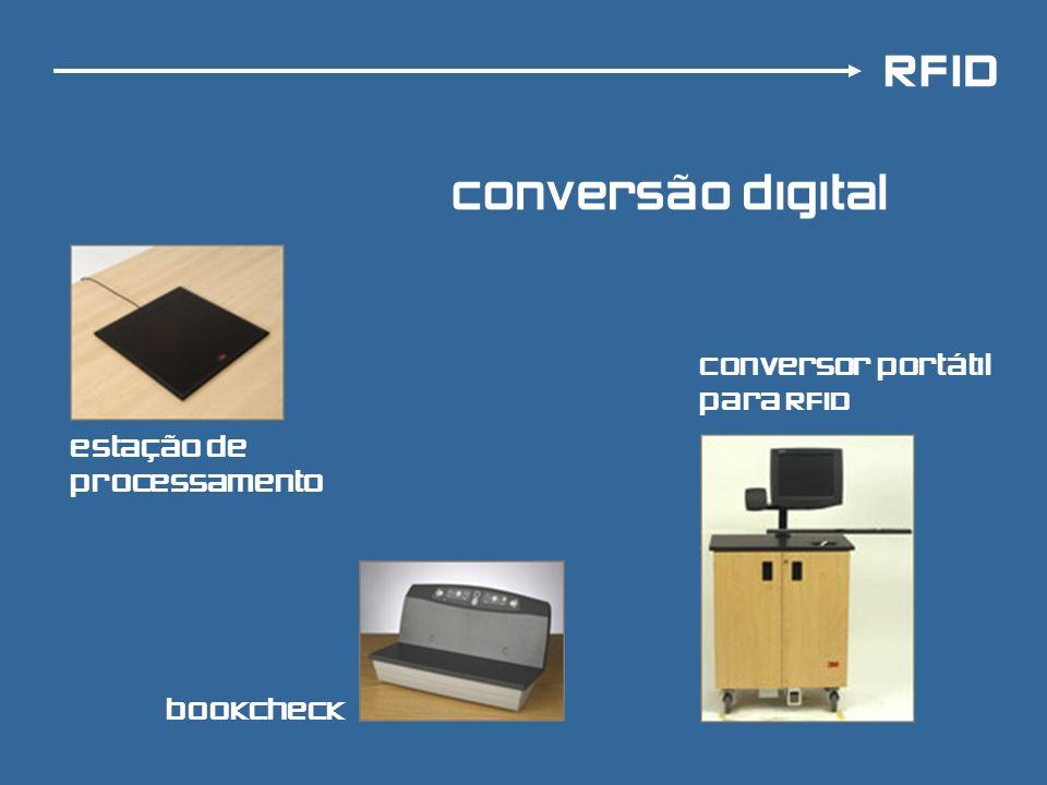 RFID conversão digital conversor portátil para RFiD bookcheck estação de processamento