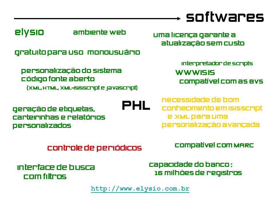 softwares PHL http://www.elysio.com.br gratuito para uso monousuário Uma licença garante a atualização sem custo elysio interpretador de scripts wwwis