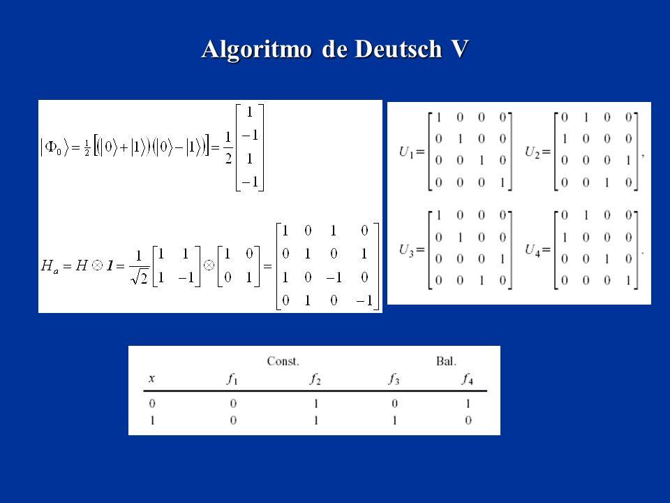 Algoritmo de Deutsch V