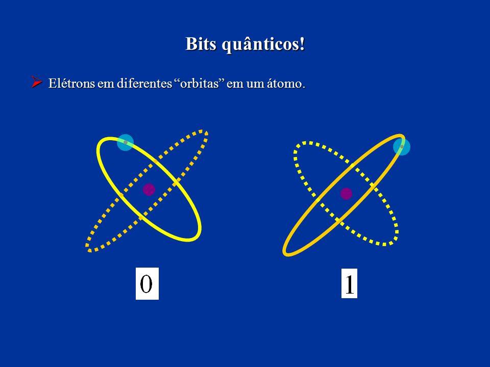 Bits quânticos! Elétrons em diferentes orbitas em um átomo. Elétrons em diferentes orbitas em um átomo.
