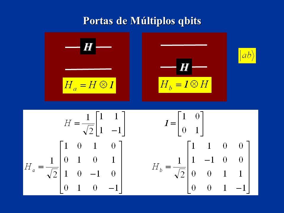 Portas de Múltiplos qbits H H