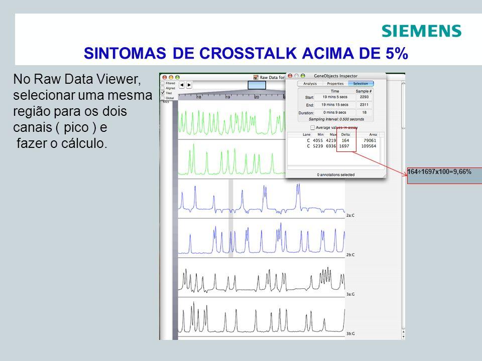 Pag 16 Siemens Healthcare DiagnósticosAssessoria Científica No Raw Data Viewer, selecionar uma mesma região para os dois canais ( pico ) e fazer o cál