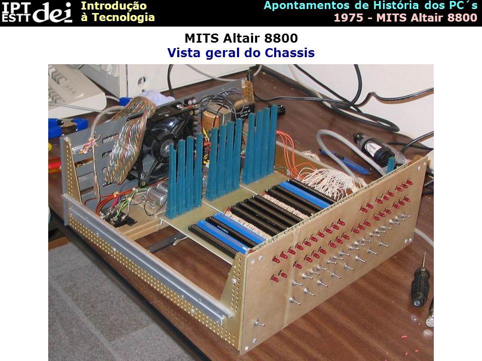 Introdução à Tecnologia Apontamentos de História dos PC´s 1975 - MITS Altair 8800 MITS Altair 8800 Vista geral do Chassis