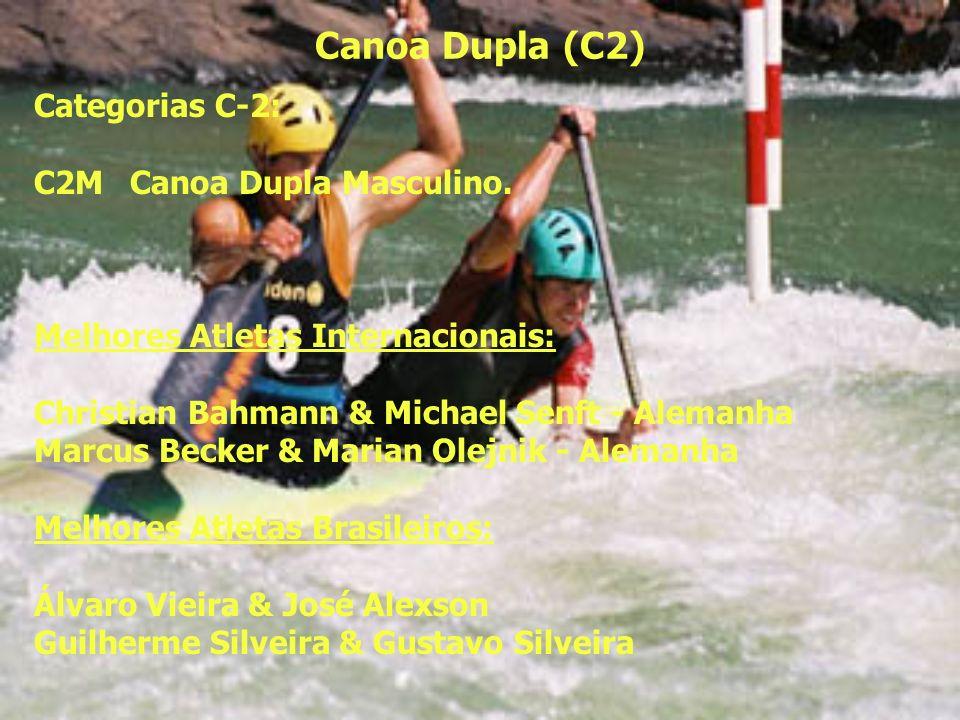 Caiaque Individual (K-1) Categorias K-1: K1MJRCaiaque Individual Masculino Junior; K1MSRCaiaque Individual Masculino Sênior; K1FUNCaiaque Individual Feminino Único.