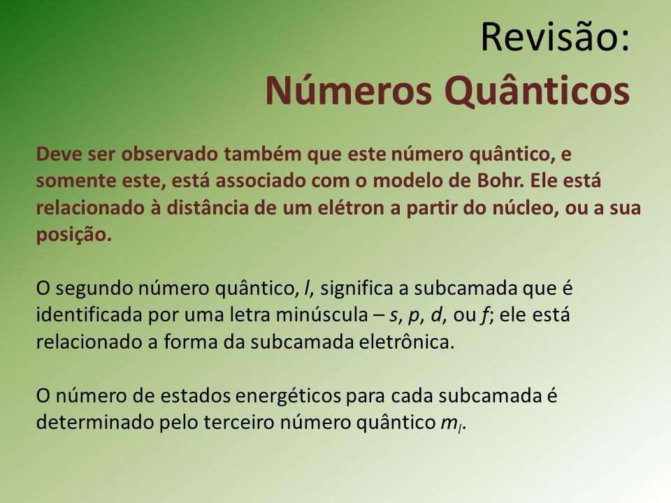 Deve ser observado também que este número quântico, e somente este, está associado com o modelo de Bohr.