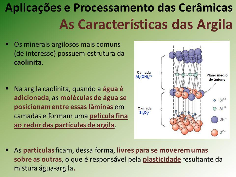 Os minerais argilosos mais comuns (de interesse) possuem estrutura da caolinita.