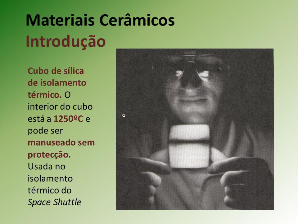 Materiais Cerâmicos Introdução Cubo de sílica de isolamento térmico.