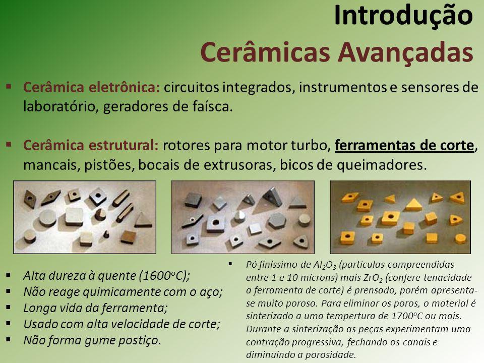 Cerâmica eletrônica: circuitos integrados, instrumentos e sensores de laboratório, geradores de faísca.