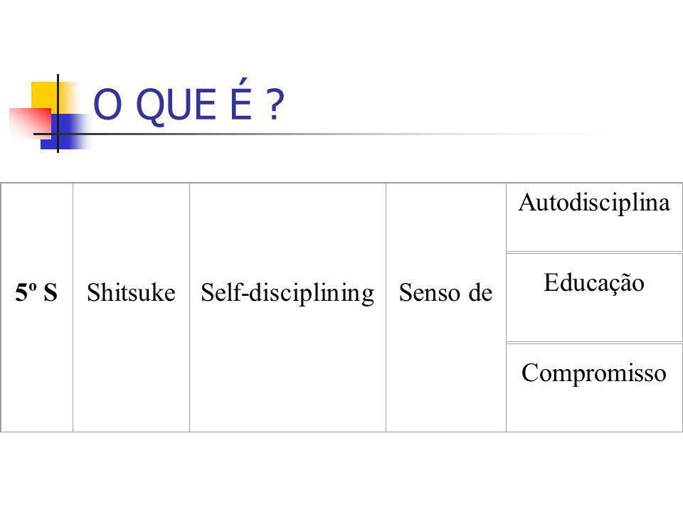 O QUE É ? 5º SShitsukeSelf-discipliningSenso de Autodisciplina Educação Compromisso