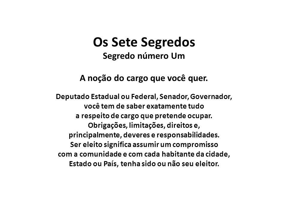 OS SETE SEGREDOS DO CANDIDATO