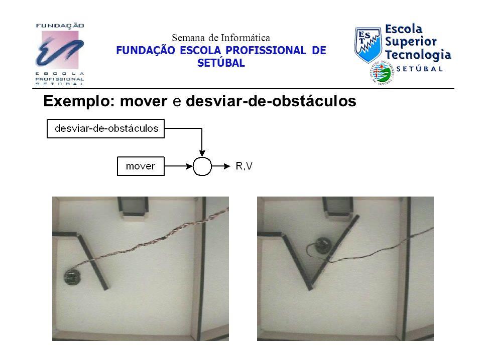 Exemplo: mover e desviar-de-obstáculos Semana de Informática FUNDAÇÃO ESCOLA PROFISSIONAL DE SETÚBAL