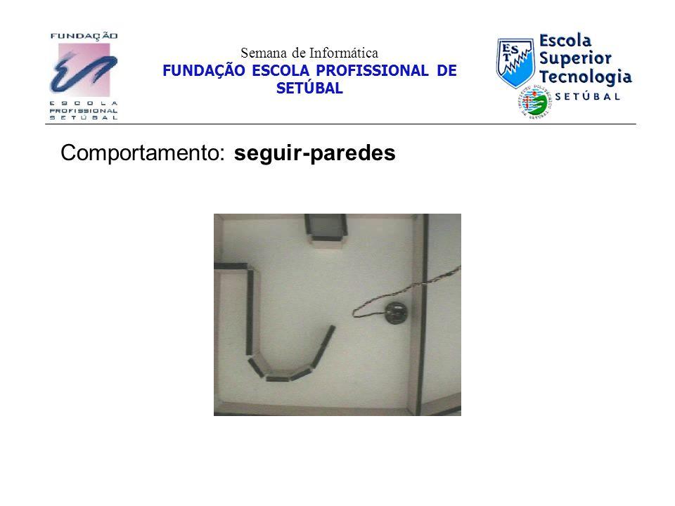 Comportamento: seguir-paredes Semana de Informática FUNDAÇÃO ESCOLA PROFISSIONAL DE SETÚBAL