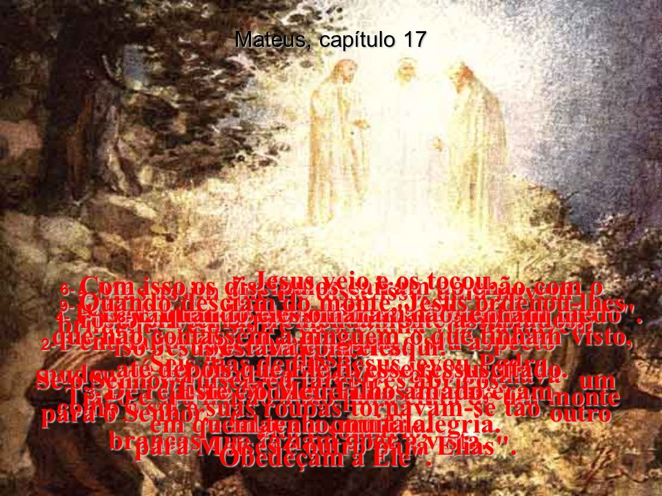 MATEUS, Capítulo 17 Capítulo 17
