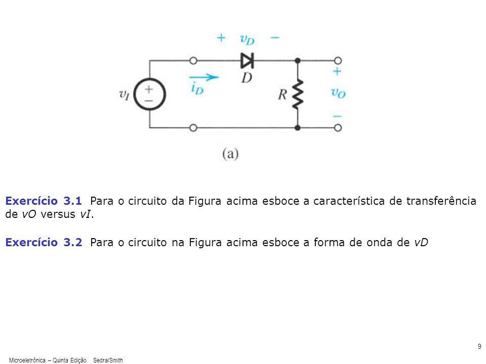Microeletrônica – Quinta Edição Sedra/Smith 10 Resposta E3.2 Resposta E3.1
