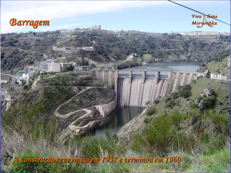 A construção teve início em 1957 e terminou em 1960 Barragem