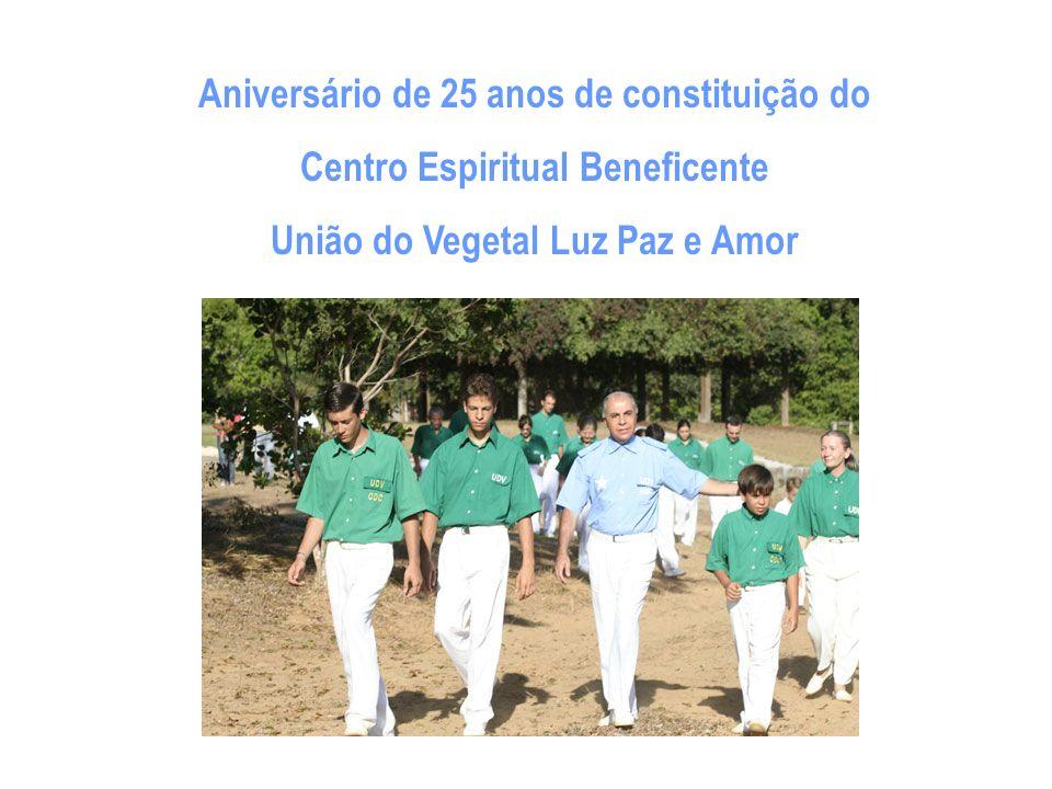 O mês escolhido para essa mágica convivência é julho, porque no dia 22 de todo mês sete comemora-se o aniversário de constituição do Centro Espiritual Beneficente União do Vegetal Luz Paz e Amor