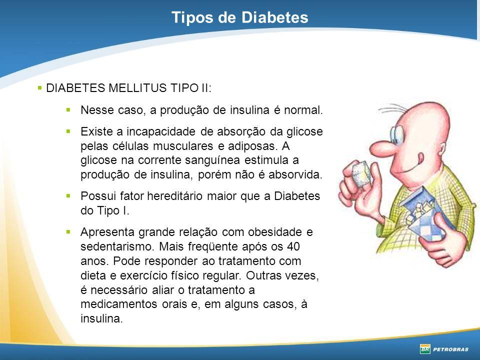 Principais sintomas do Diabetes tipo II: Infecções freqüentes, alteração visual, dificuldade na cicatrização de feridas, formigamento dos pés, furunculose de repetição.