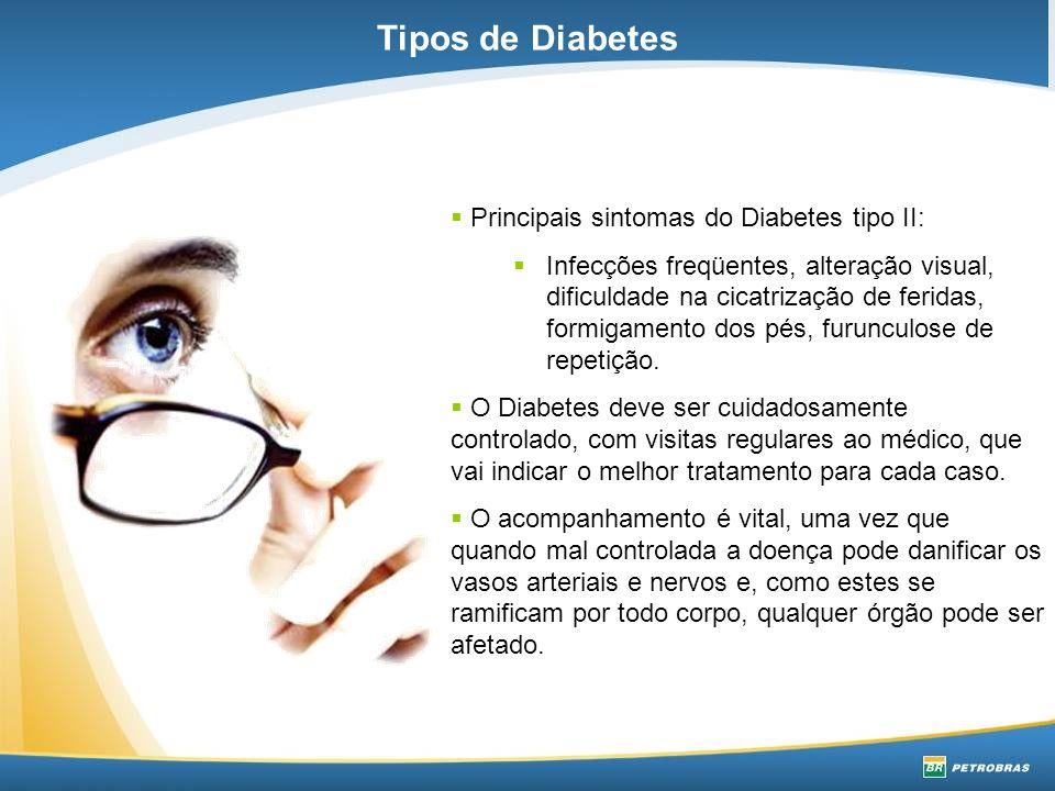 Olhos - retinopatia diabética, podendo levar à cegueira.