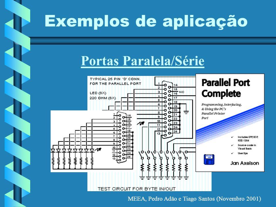 MEEA, Pedro Adão e Tiago Santos (Novembro 2001) Exemplos de aplicação Portas Paralela/Série