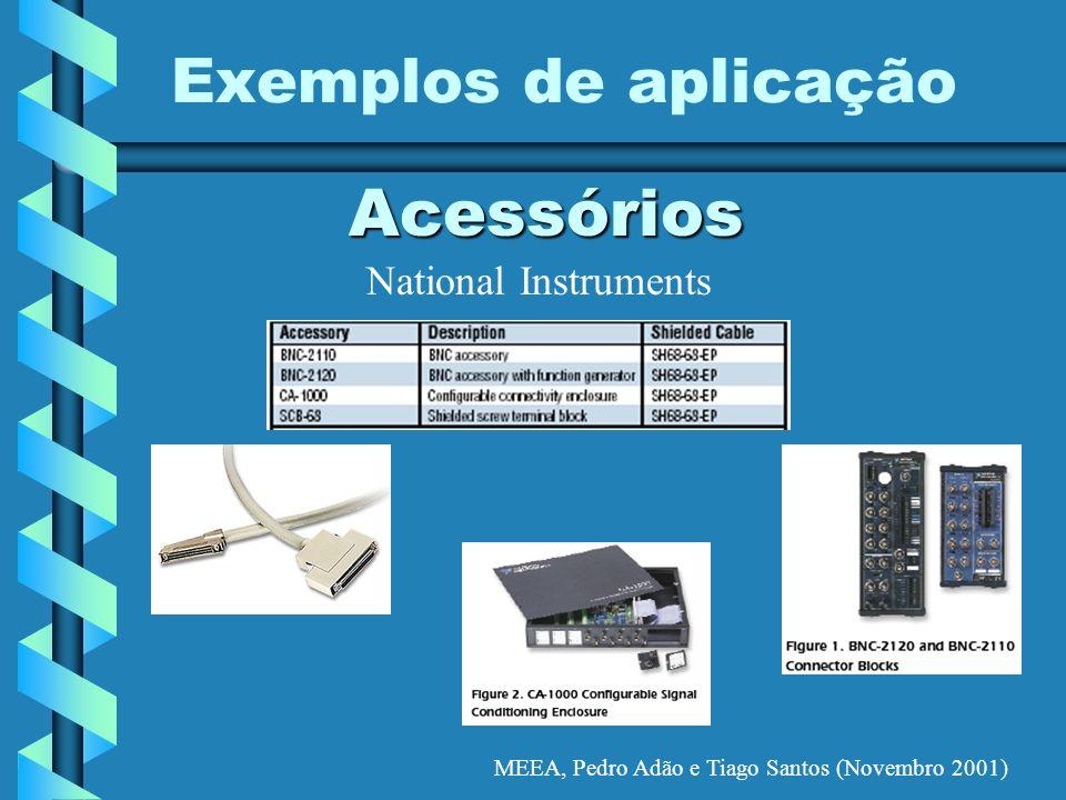 MEEA, Pedro Adão e Tiago Santos (Novembro 2001) Exemplos de aplicação Acessórios National Instruments