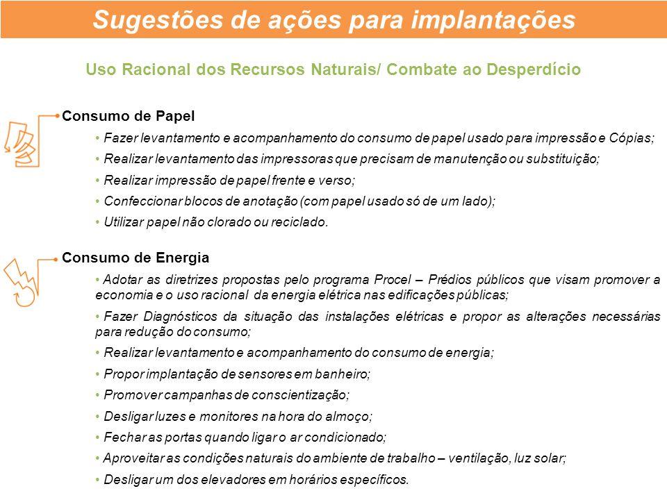 Consumo de Papel Fazer levantamento e acompanhamento do consumo de papel usado para impressão e Cópias; Realizar levantamento das impressoras que prec